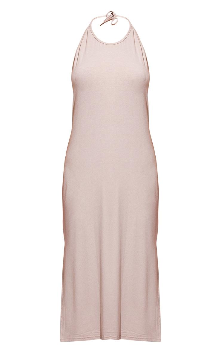 Stone Backless Strappy Midi Dress 2