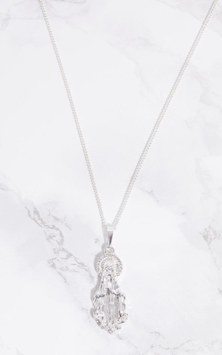 Silver Renaissance Saint Diamante Halo Necklace 3