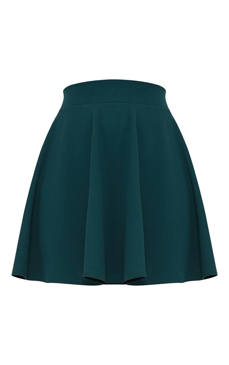Emerald Green Skater Mini Skirt 3