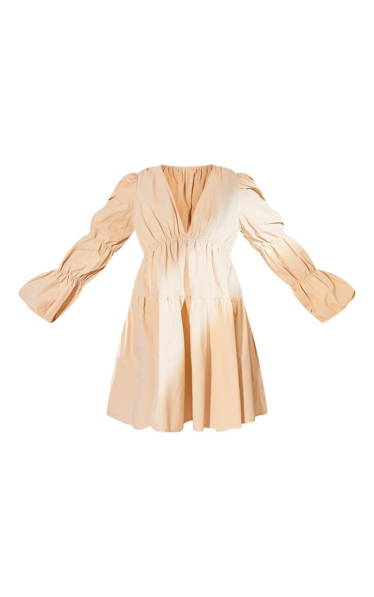 Plus Cream Tierd Puff Sleeve Dress 5