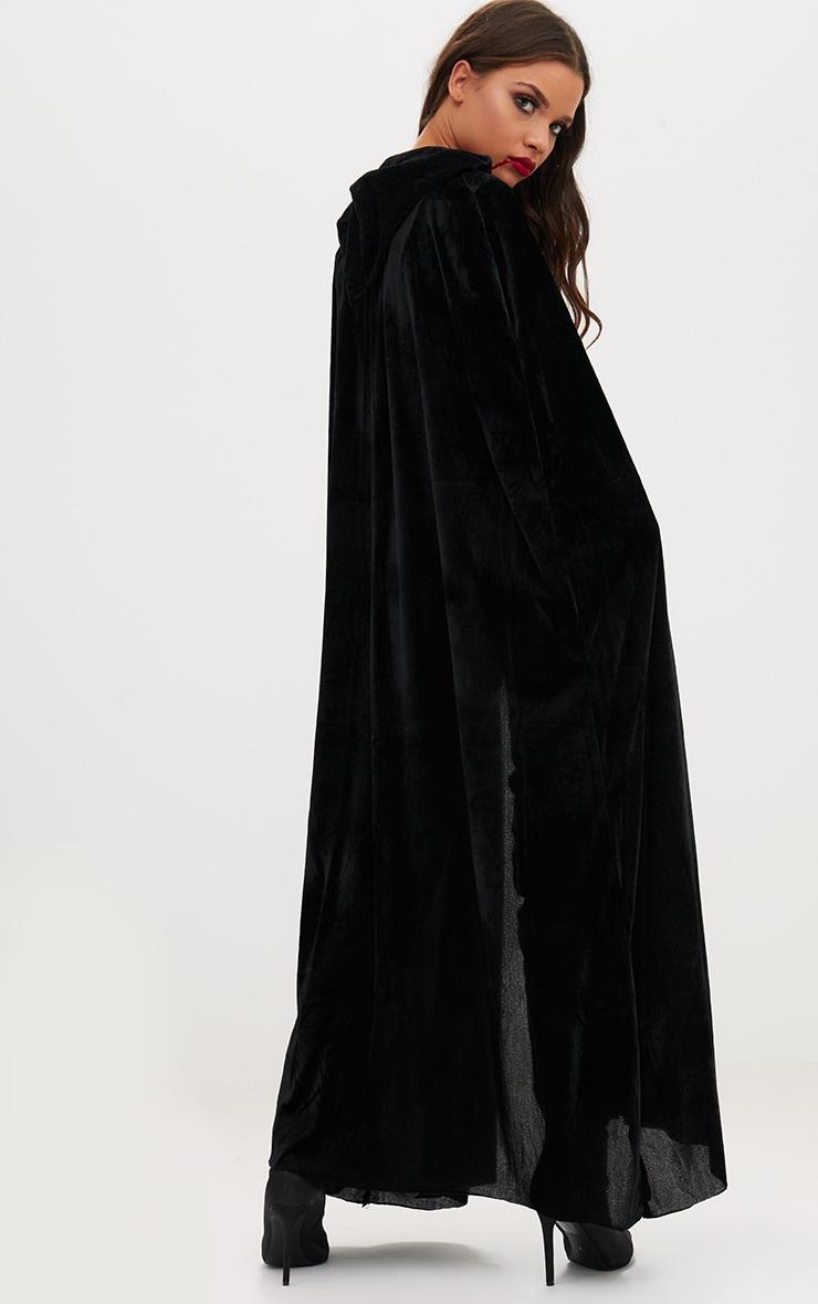 Cape à capuche en velours noir Halloween 2