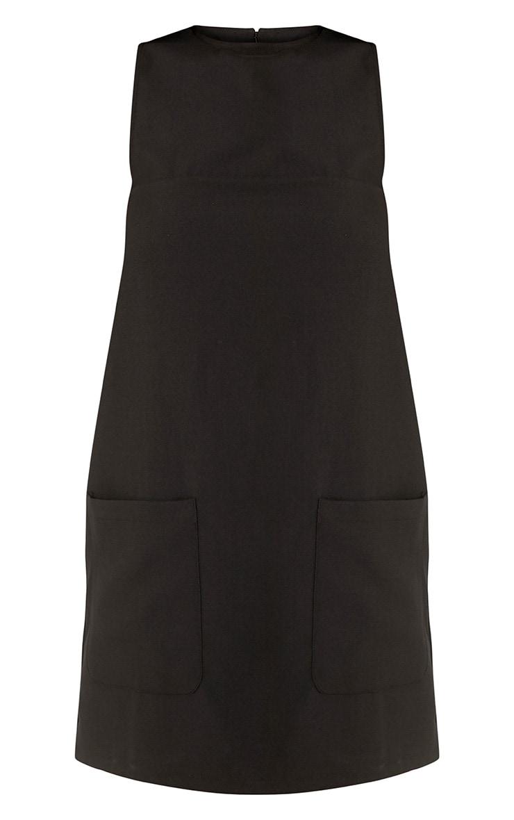 Madline Black Pocket Detail Shift Dress 3