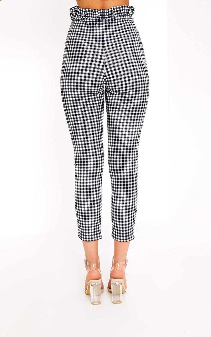 Perlita Black Gingham Paperbag Skinny Pants 4