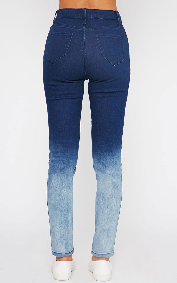 Bonnie Blue Mid Rise Ombre Skinny Jean 4