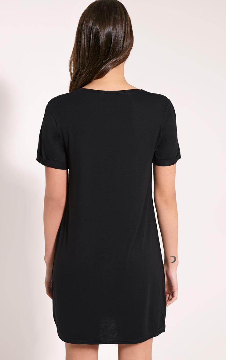 Basic Black Boyfriend Jersey T-Shirt Dress 2