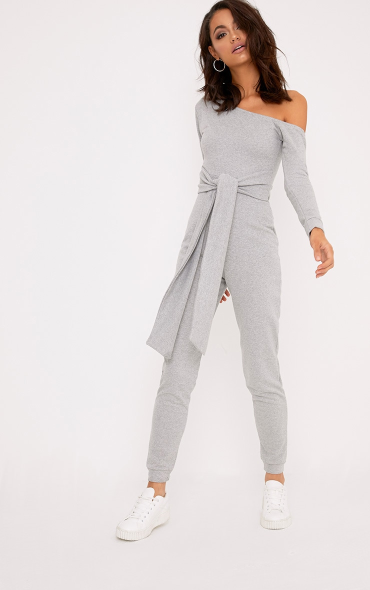 Lacie Grey Sweat Jumpsuit  1