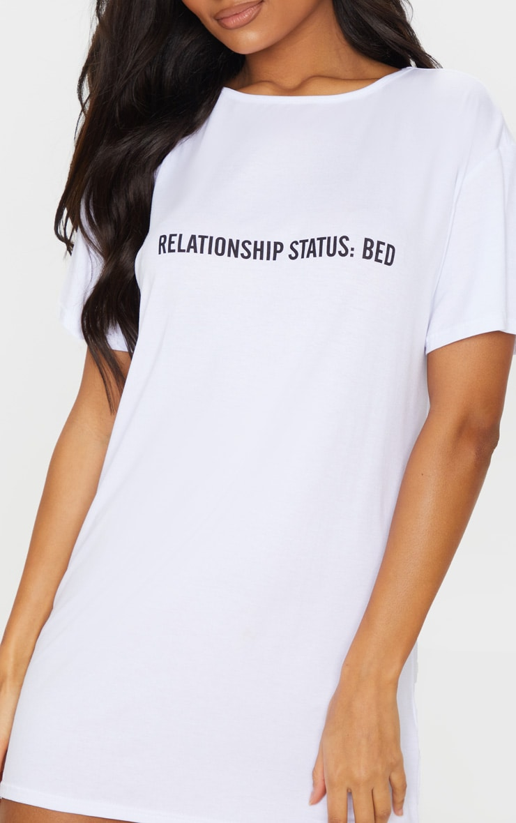 White Relationship Status: Bed Nightie 4
