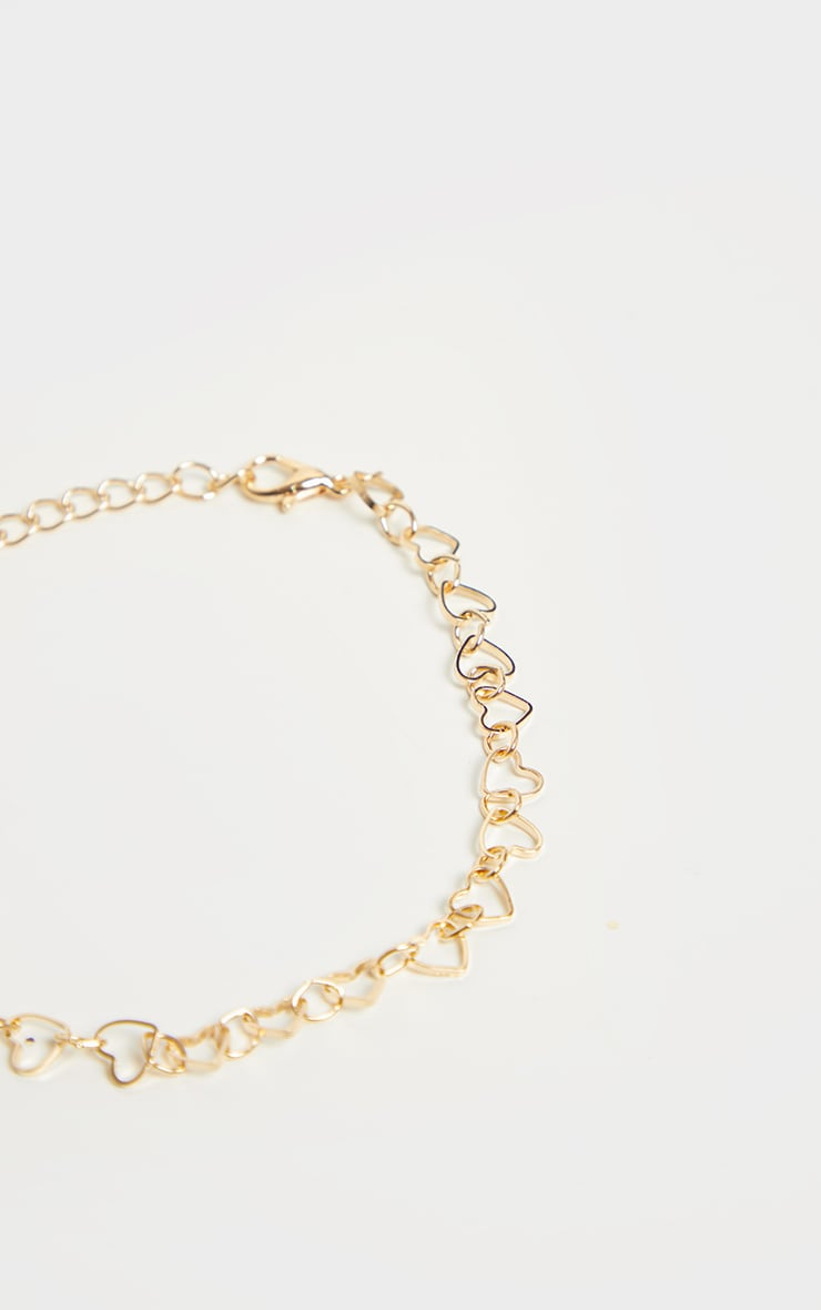 Gold Heart Chain Anklet 3