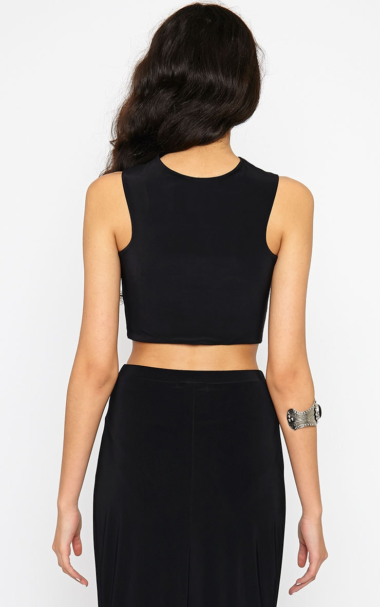 Dalia Black Wrap Crop Top 2