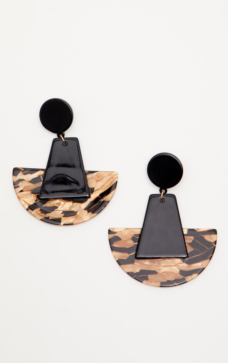 Gold Geo Drop Earrings 2