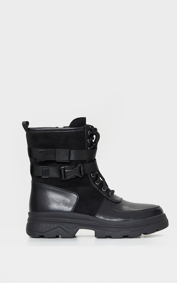Black Military Chunky Sole Boot 3