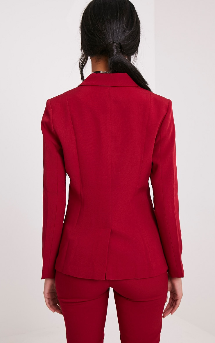 Avani Burgundy Suit Jacket 2