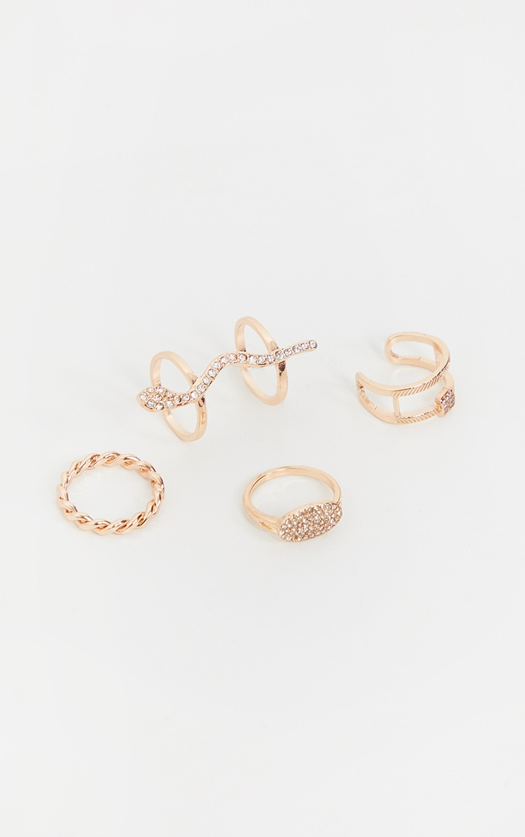 Gold Ring Pack With Snake and Rope