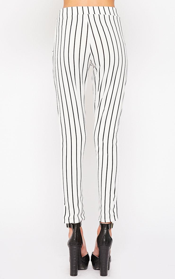 Jakoba Cream Pinstripe Pants 4