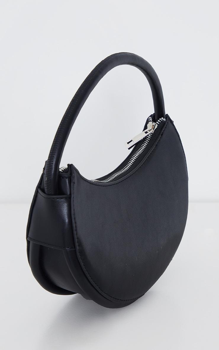 Black Crescent Shoulder Bag 3
