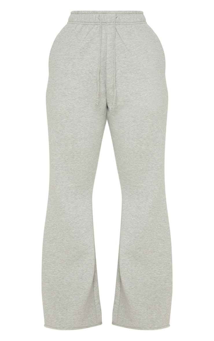 Grey Drawstring Waist Flare Leg Sweat Jogger 3