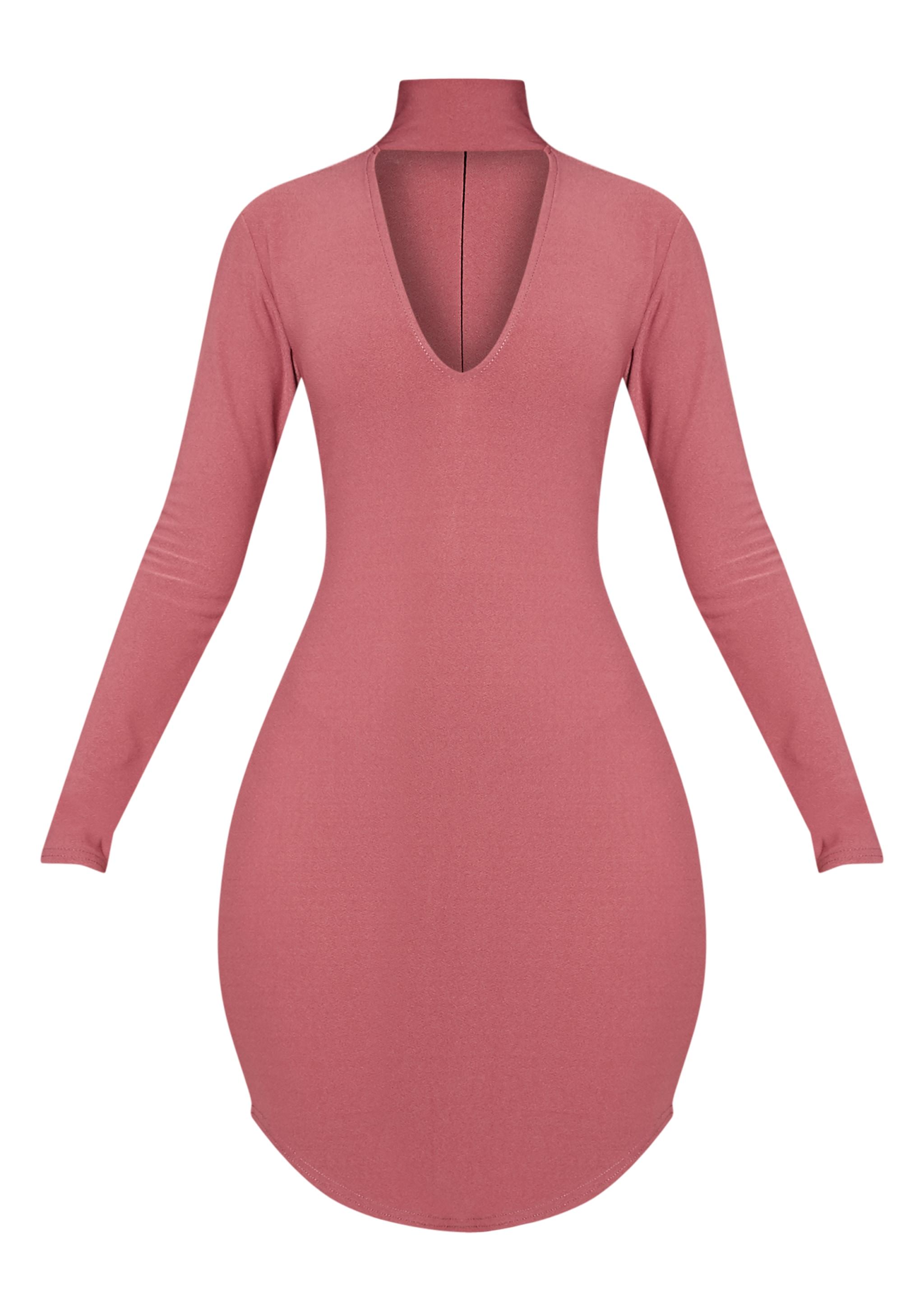 Arianna Rose Crepe Choker Detail Bodycon Dress 3