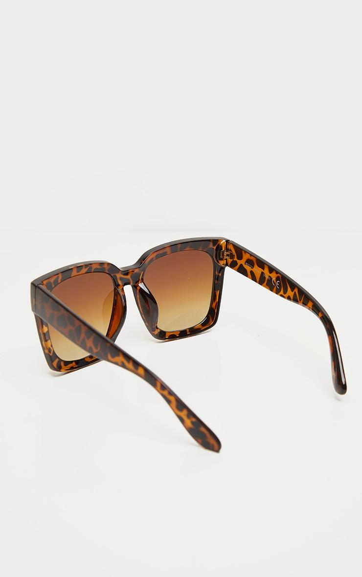 Brown Tortoise Oversized Square Sunglasses 3