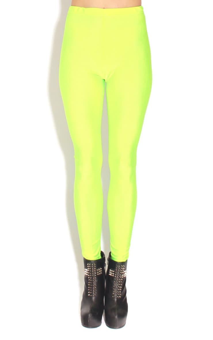 Chloe Lime High Waisted Disco Pants 1