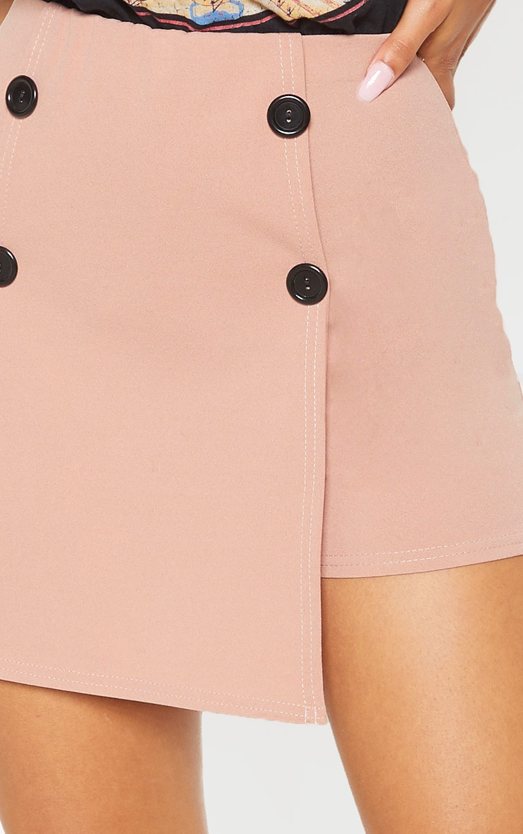 Blush Button Front Detail Skort  6
