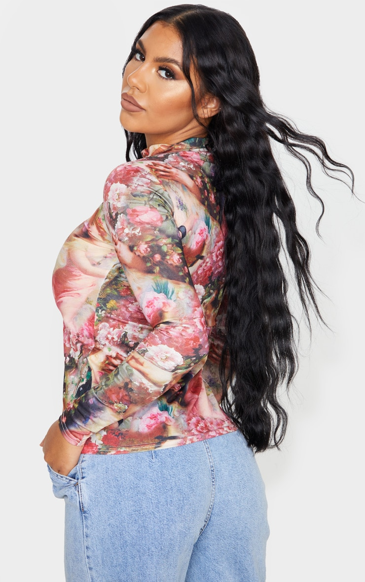 Multi Renaissance Printed High Neck Top 2