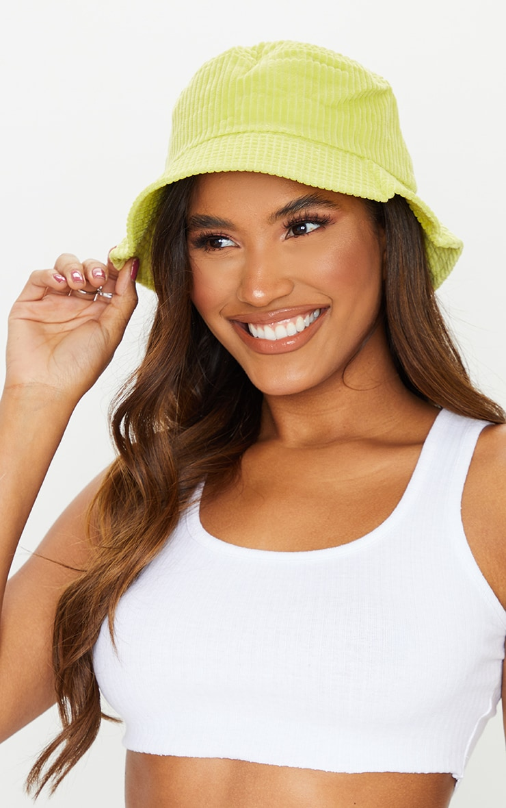 Lime Cord Bucket Hat 1