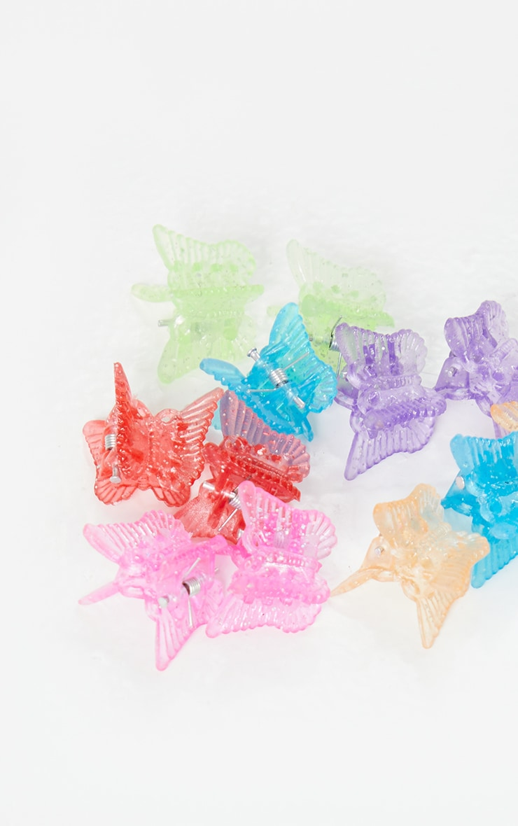 Multi Butterfly 12 Pack Clips 2