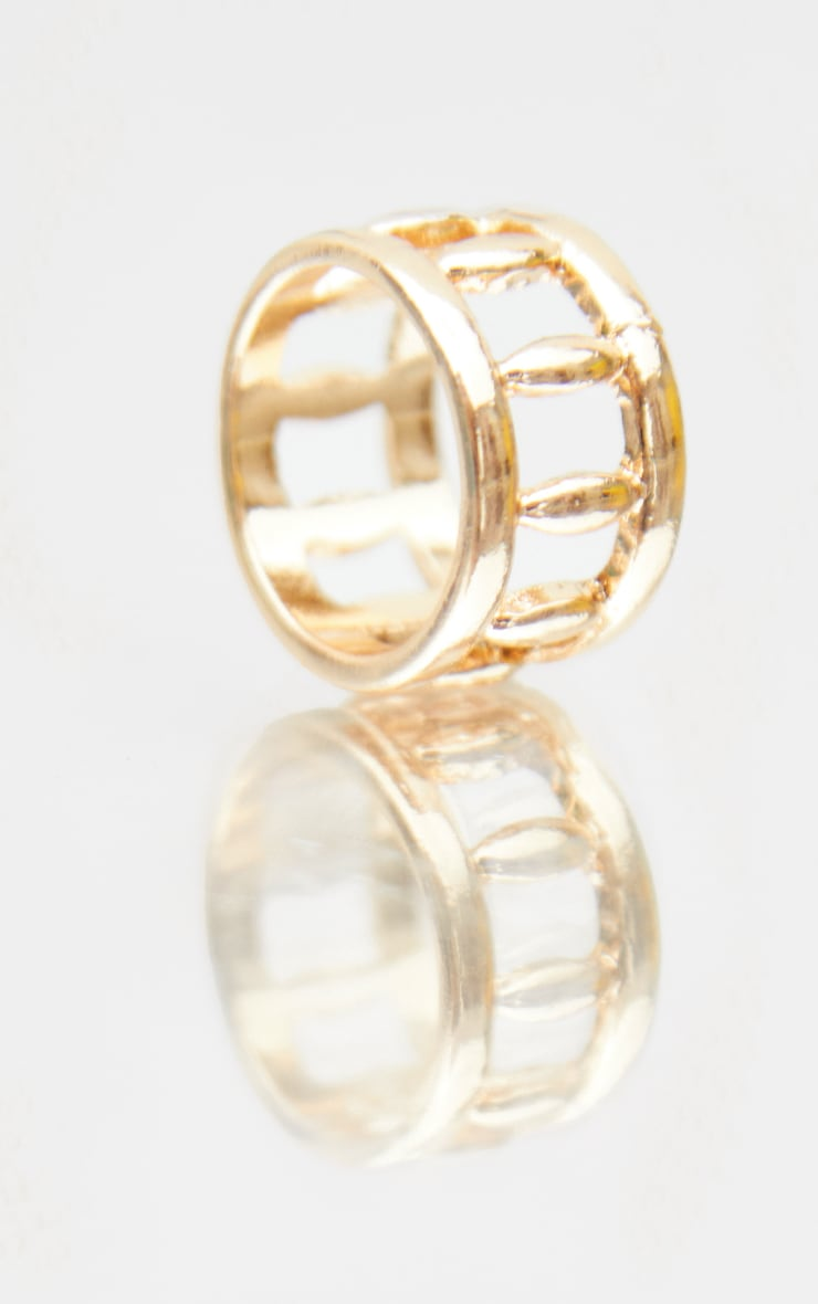 Gold Cut Out Side Ring 3