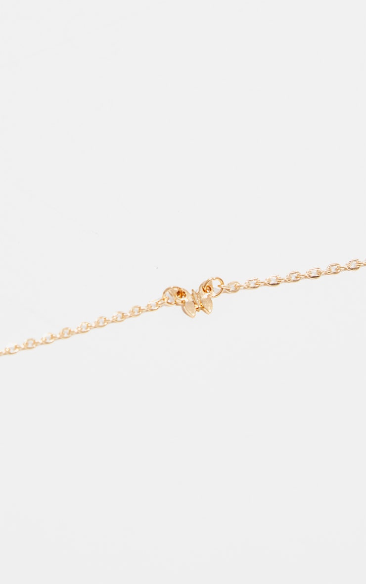 Gold Butterfly Delicate Chain Anklet 3
