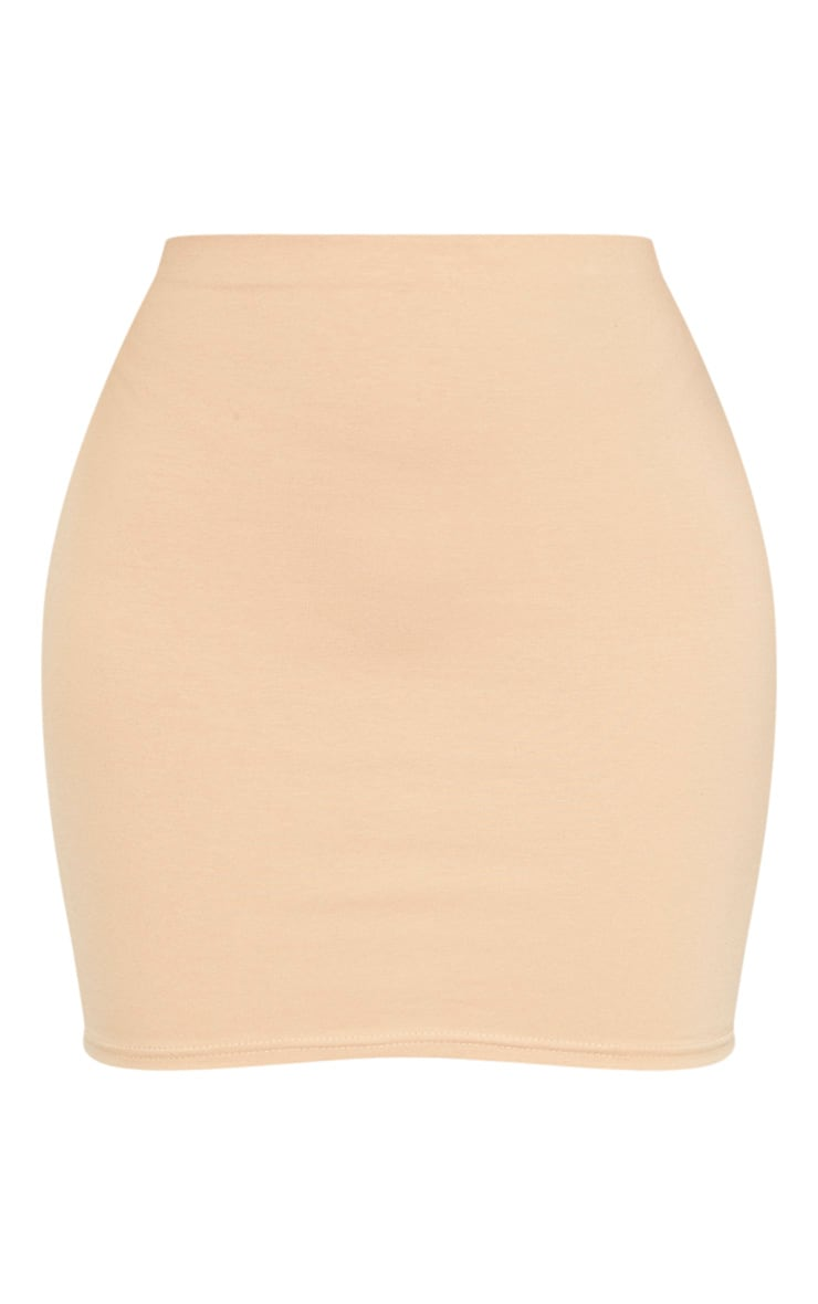 Biscuit Cotton Mini Skirt 3