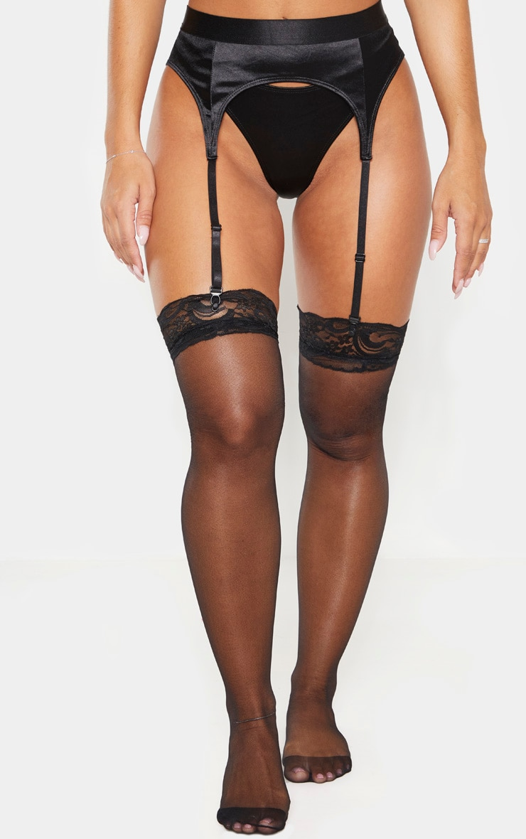 Black Satin Suspender 2