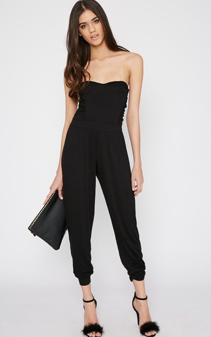 Shelby Black Ruched Jumpsuit 3
