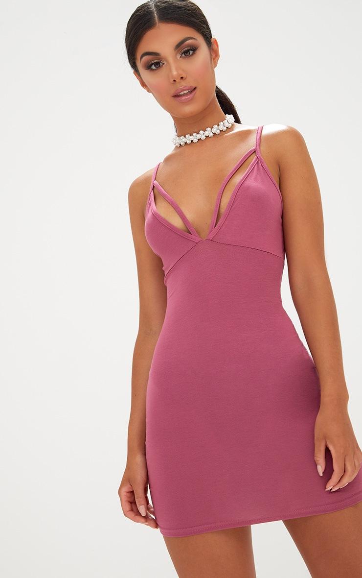 Rose Strap Detail Bodycon Dress 1