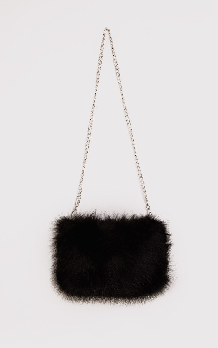 Christah Black Faux Fur Chain Shoulder Bag 2