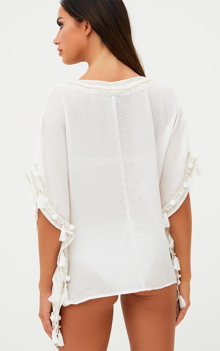 Cream Embellished Kimono 2