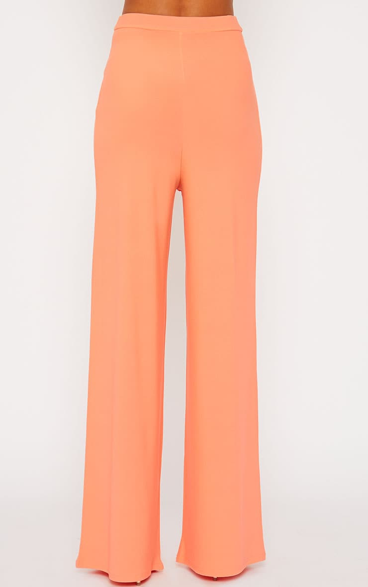 Zafia Orange Crepe Palazzo Trousers 4