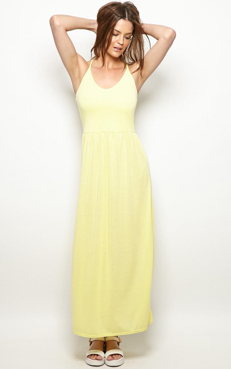Mabel Lemon Strap Detail Maxi Dress 3