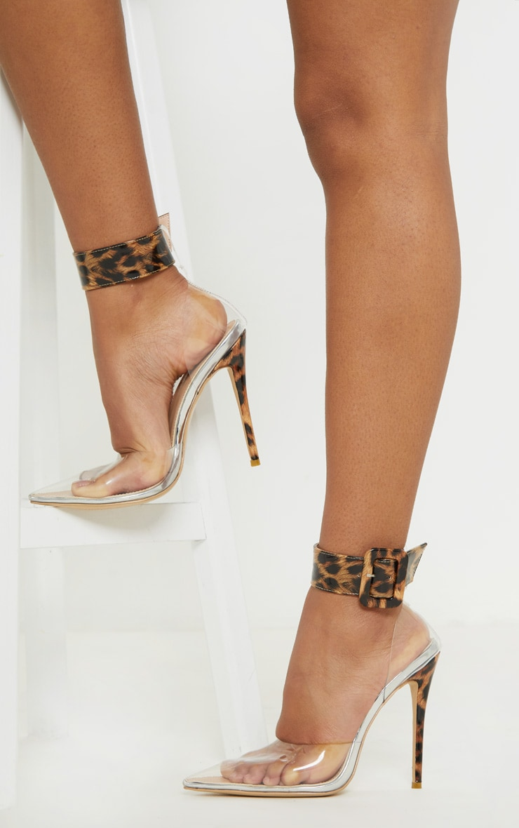 56351a0c87e Leopard Cuff Detail Court Shoes image 1