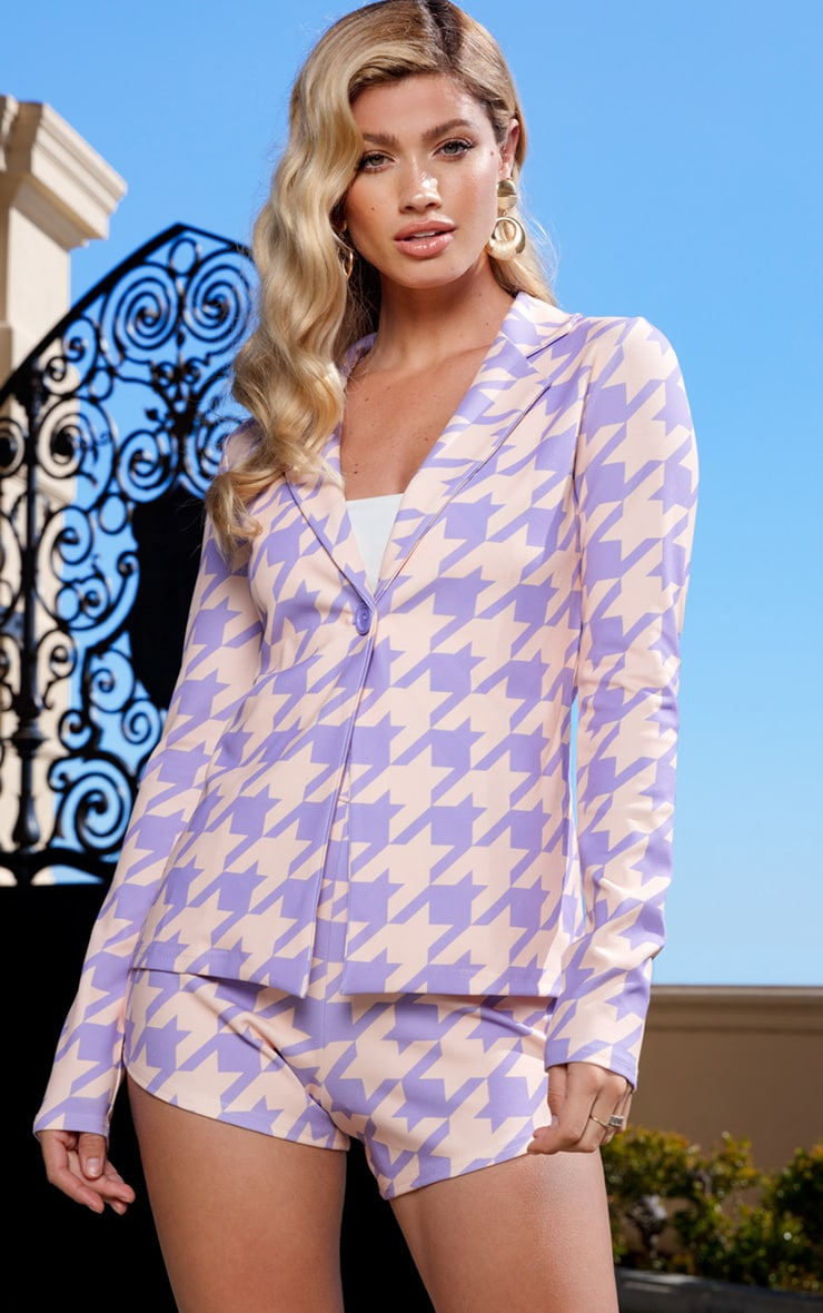 Lilac Print Blazer 1