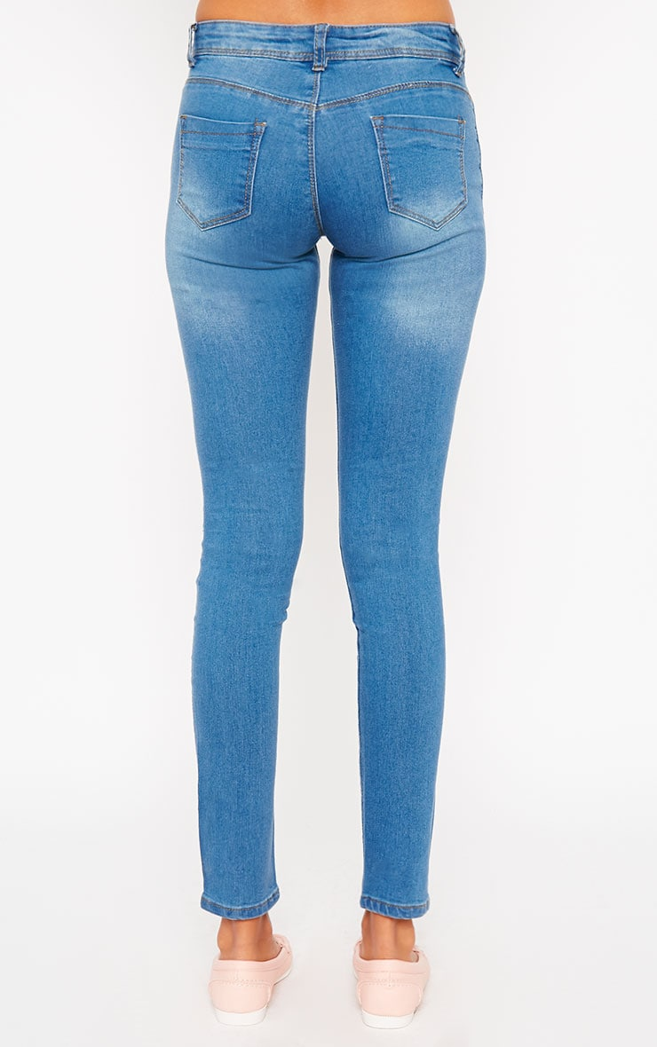 Mirka Blue Ripped Front Jeans 2