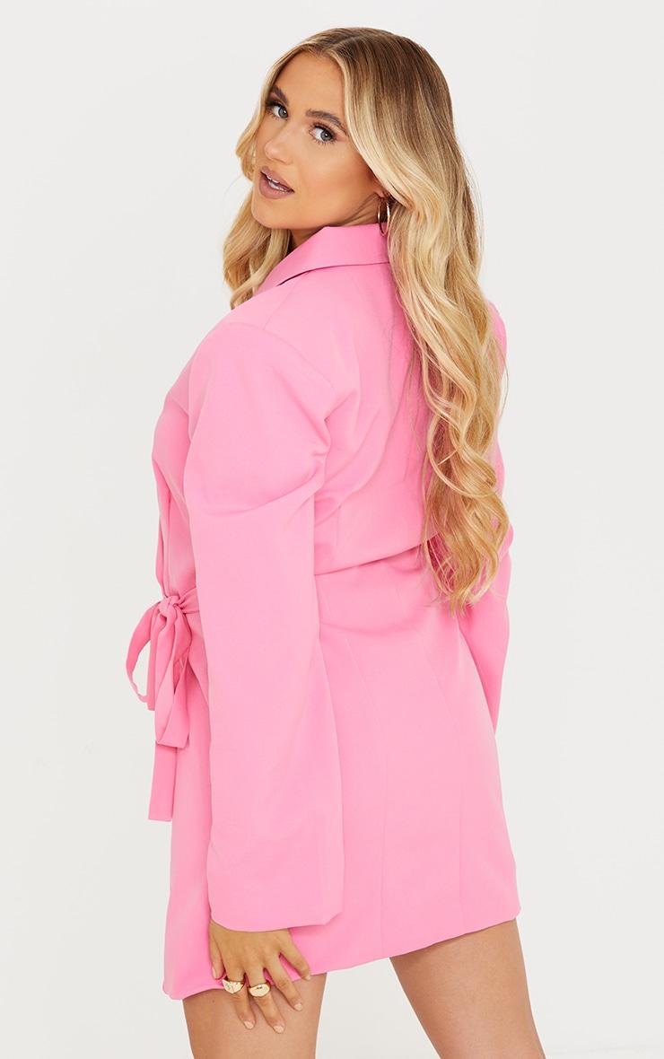 Maternity Pink Tie Side Blazer Dress 2