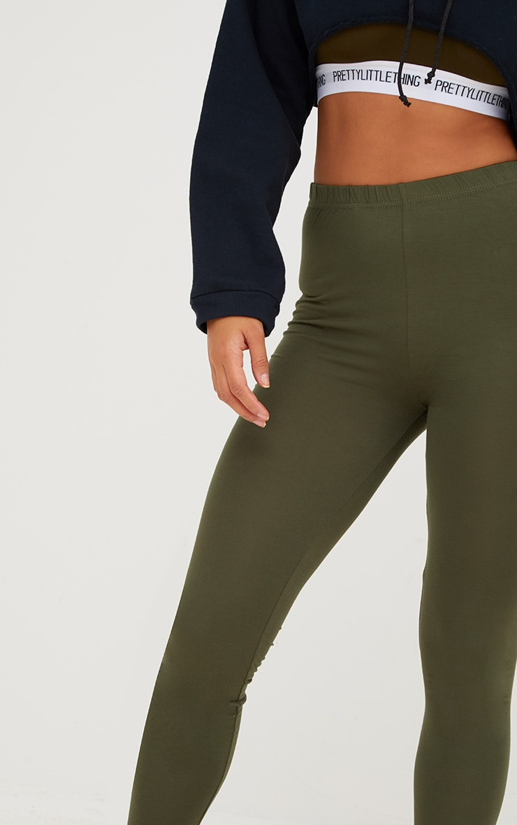 Basic Black and Khaki Jersey Leggings 2 Pack 9