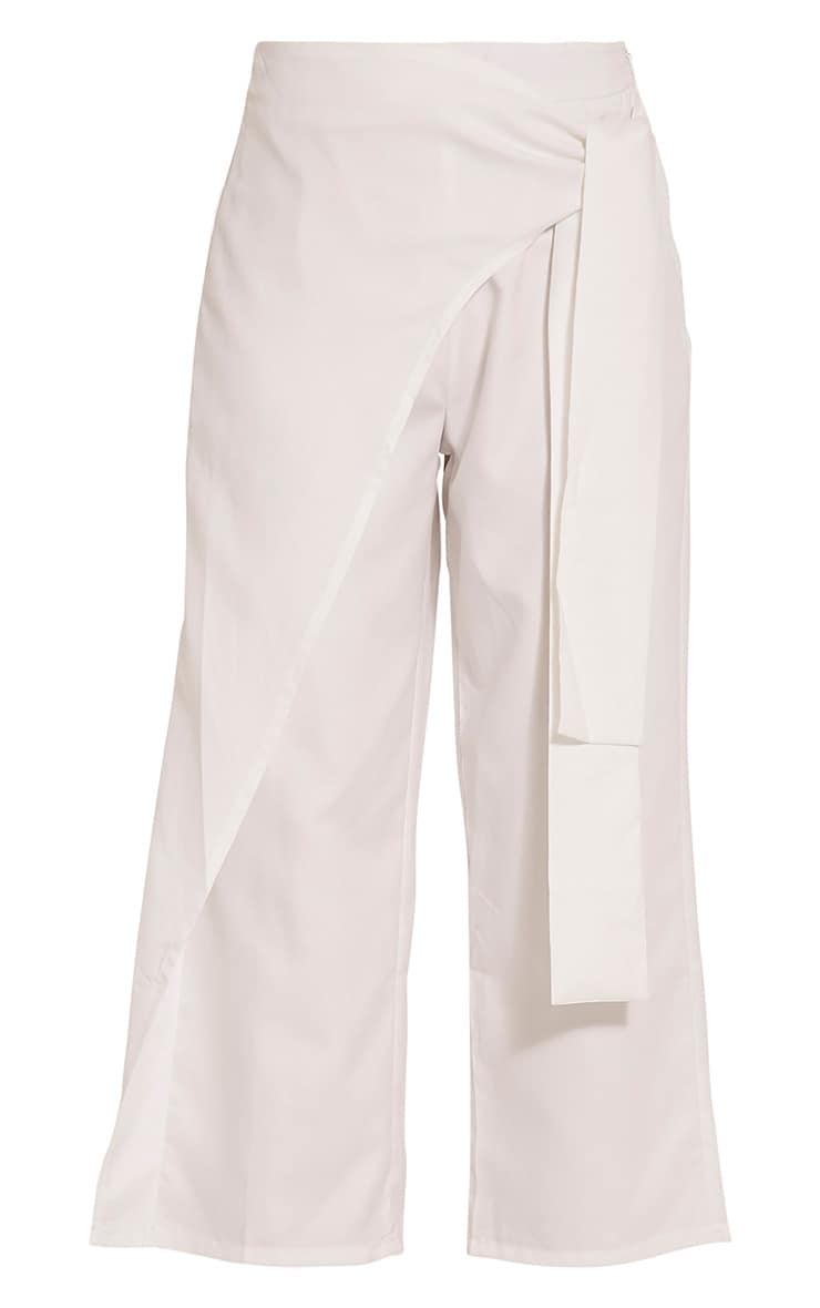 Shirley White Wrap Tie Culottes 2