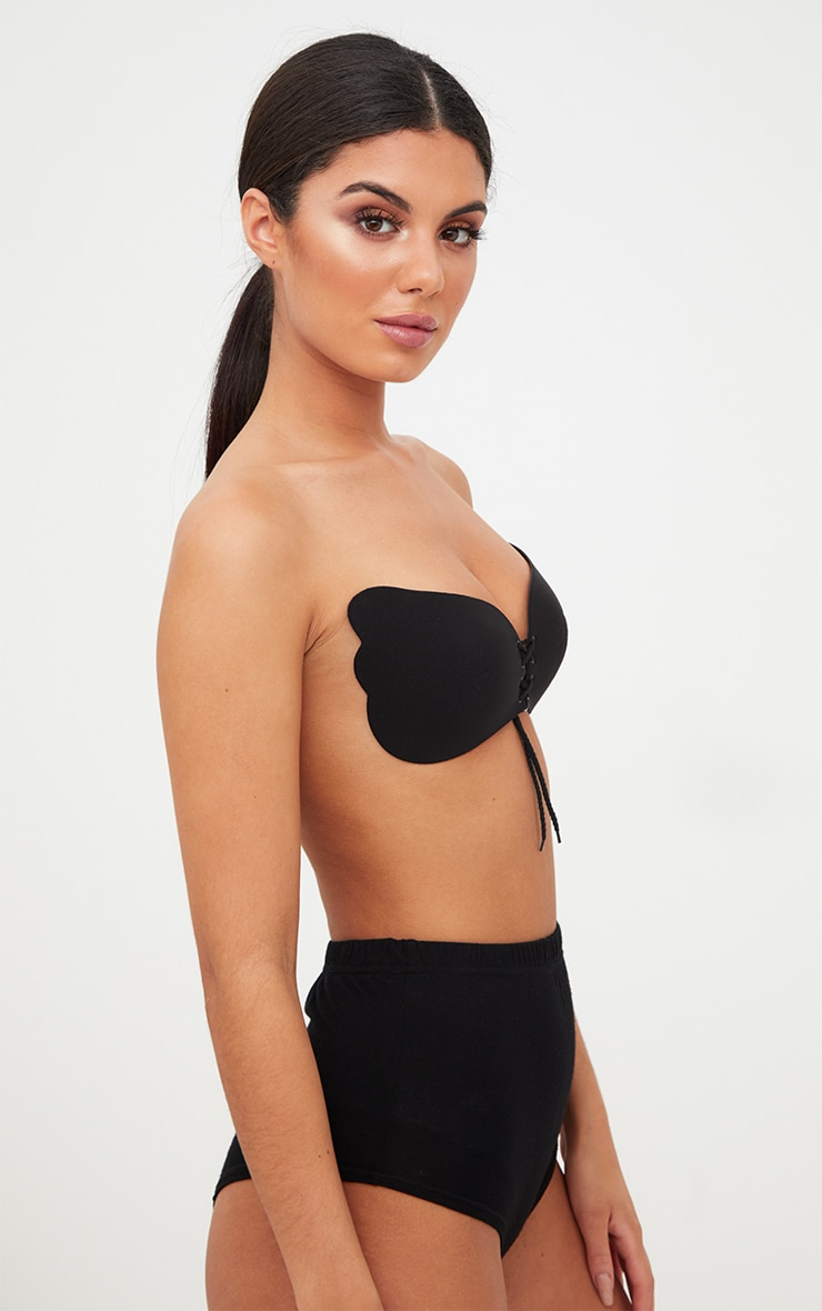 Black Push Up Stick On Bra 4