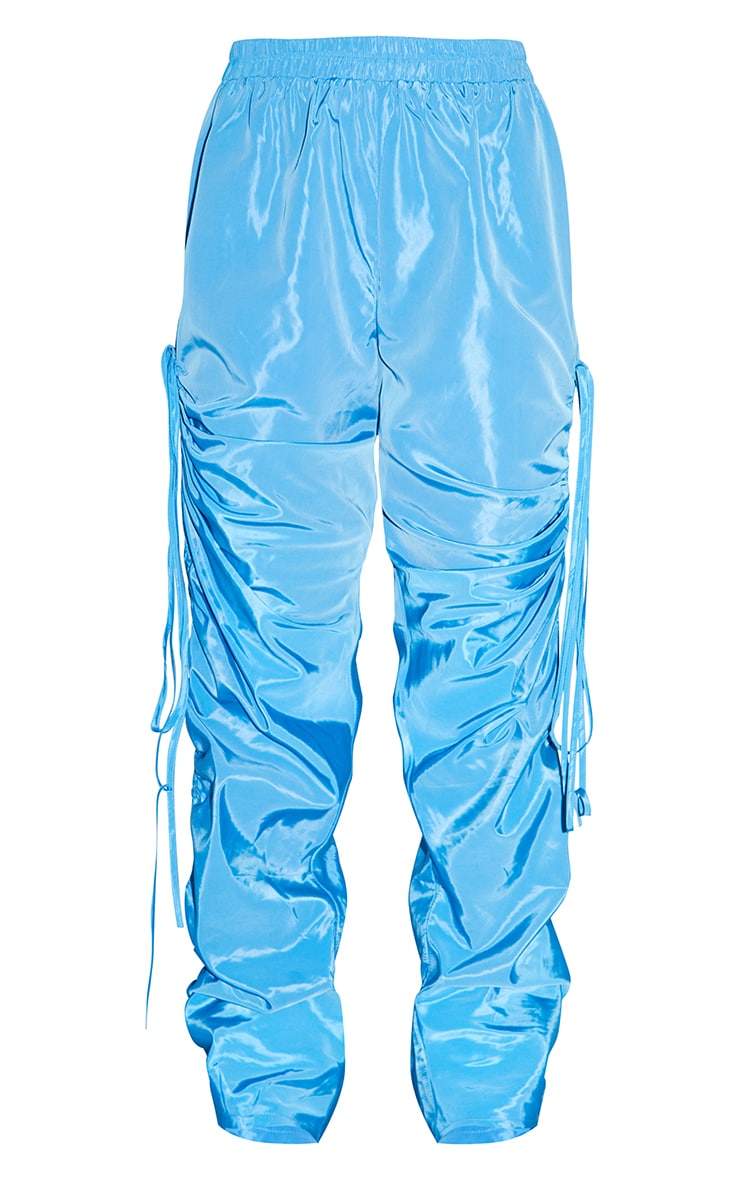 Sky Blue Shell Ruched Leg Joggers 5