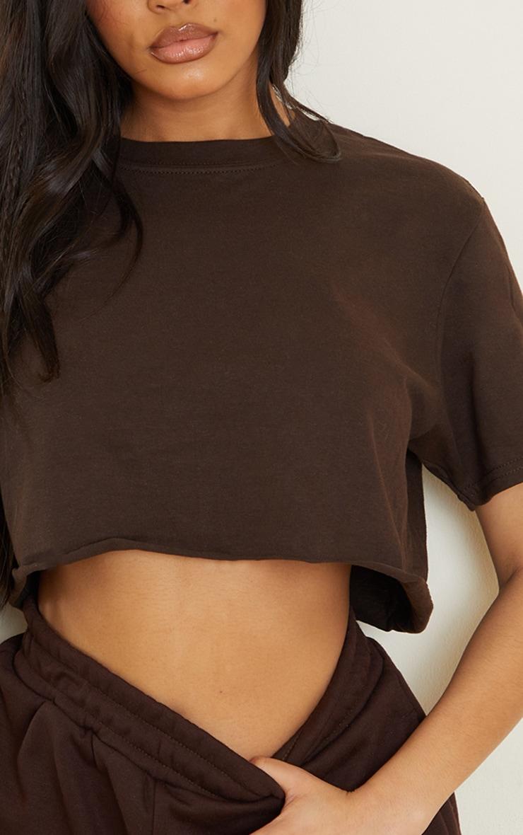 Chocolate Ultimate Crop T Shirt 4