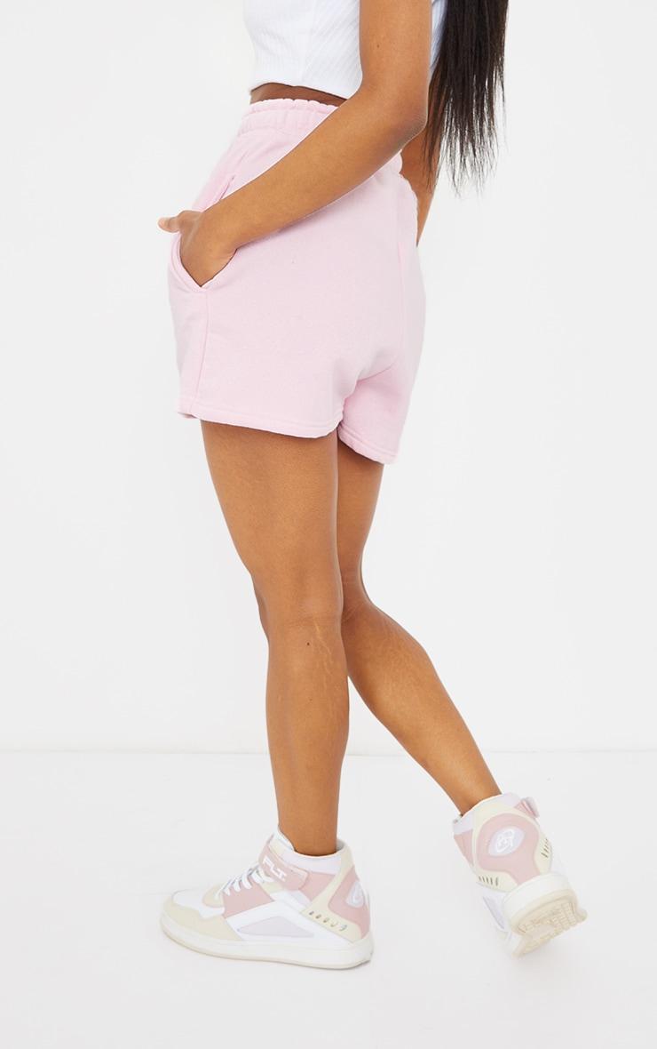 PRETTYLITTLETHING Petite Pink Sweat Shorts 3