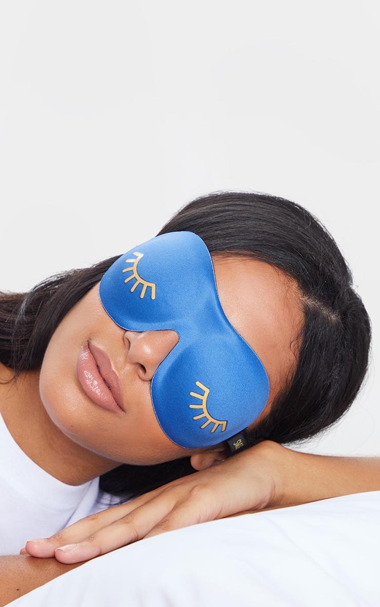 Smug Eyelash Friendly Sleep Mask Blue Wink 2