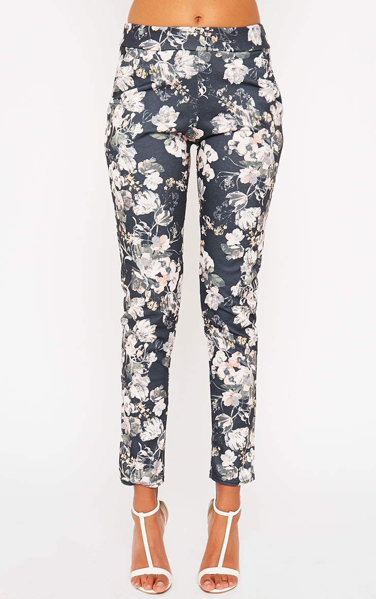 Saba Khaki Floral Trousers 2
