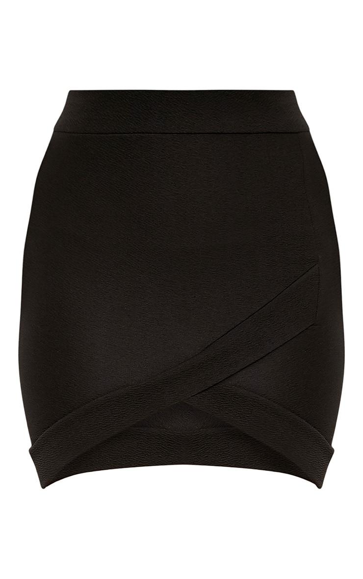 Petite Gabriella Black Asymmetric Mini Skirt 3